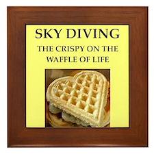 sky diving Framed Tile