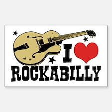 I Love Rockabilly Decal