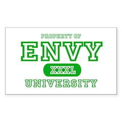 Envy University Property Rectangle Decal