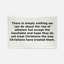 Rise of Atheism Quote Rectangle Magnet