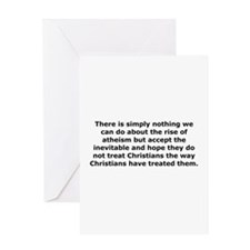 Rise of Atheism Quote Greeting Card