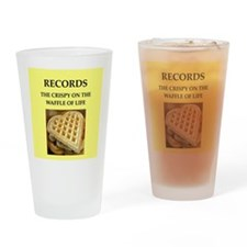 record Drinking Glass