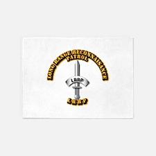Army - Badge - LRRP 5'x7'Area Rug