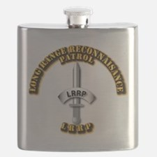 Army - Badge - LRRP Flask