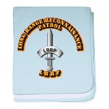 Army - Badge - LRRP baby blanket