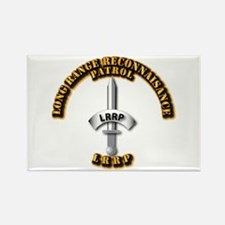 Army - Badge - LRRP Rectangle Magnet