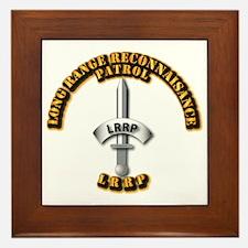 Army - Badge - LRRP Framed Tile