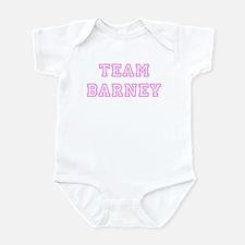 Pink team Barney Infant Bodysuit