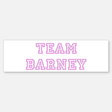 Pink team Barney Bumper Bumper Bumper Sticker