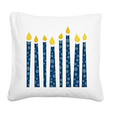 Hanukkah Candles Square Canvas Pillow