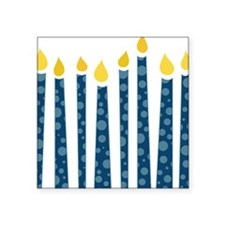 "Hanukkah Candles Square Sticker 3"" x 3"""