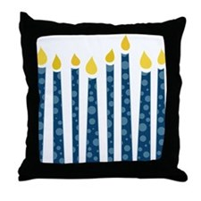Hanukkah Candles Throw Pillow