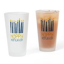 Happy Hanukkah Drinking Glass