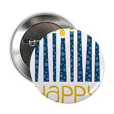 """Happy Hanukkah 2.25"""" Button"""