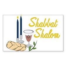 Shabbat Shalom Decal