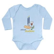 Celebrate Shabbat Long Sleeve Infant Bodysuit