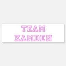 Pink team Kamden Bumper Bumper Bumper Sticker