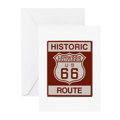 Lenwood Route 66 Greeting Cards (Pk of 20)