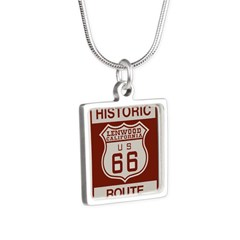 Lenwood Route 66 Silver Square Necklace