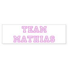 Pink team Mathias Bumper Bumper Sticker