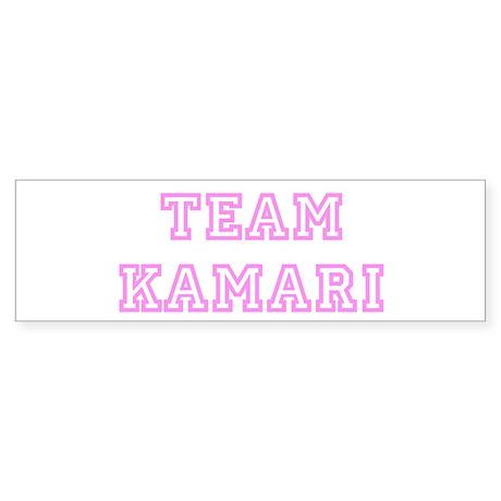 Pink team Kamari Bumper Sticker