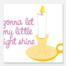 "My Little Light Square Car Magnet 3"" x 3"""
