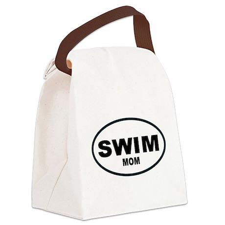 Swim Mom Oval Canvas Lunch Bag