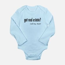 got real estate? Aunt Long Sleeve Infant Bodysuit