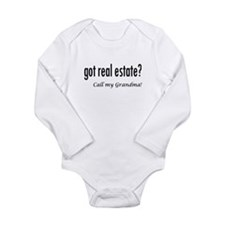 got real estate? Grandma Long Sleeve Infant Bodysu