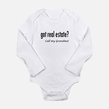 got real estate? Grandma Long Sleeve Infant Bodysu