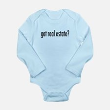 got real estate? Long Sleeve Infant Bodysuit