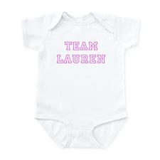 Pink team Lauren Infant Bodysuit