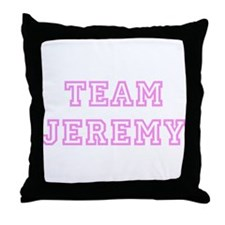 Pink team Jeremy Throw Pillow