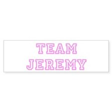 Pink team Jeremy Bumper Bumper Sticker