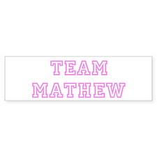 Pink team Mathew Bumper Bumper Sticker
