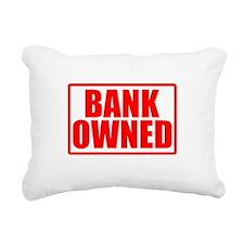 BANK OWNED Rectangular Canvas Pillow