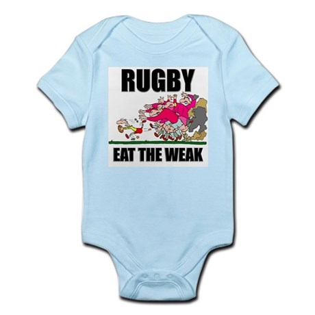Eat The Weak Rugby Infant Bodysuit