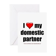 """Love Domestic Partner"" Greeting Card"