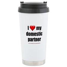 """Love Domestic Partner"" Travel Mug"