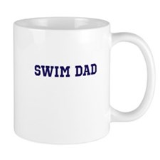Swim Dad Plain Blue Text Mug