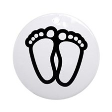 Precious Feet Ornament (Round)