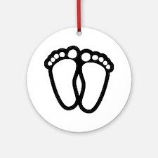Precious Feet Ornament (Round)