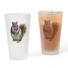 Squirrel Candy Heart Drinking Glass