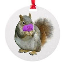 Squirrel Candy Heart Ornament