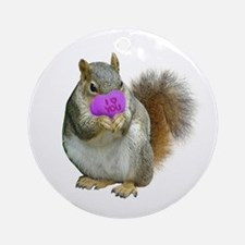 Squirrel Candy Heart Ornament (Round)