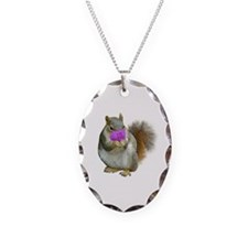 Squirrel Candy Heart Necklace