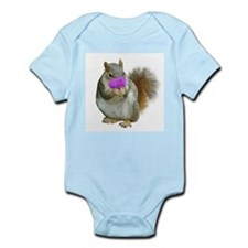 Squirrel Candy Heart Infant Bodysuit