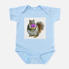 Squirrel Candy Heart Infant Bodysuit