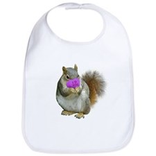 Squirrel Candy Heart Bib