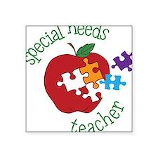 """Special Needs Teacher Square Sticker 3"""" x 3"""""""
